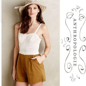 Anthropologie mermaid romper shorts tank sleeveles